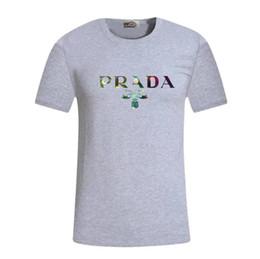 Tops liste online-Neue auflistung Prad Designer männer hemdmode luxus druck T Kurze Ärmel T-shirts Für mann Tops hemdkleidung Kostenloser versand