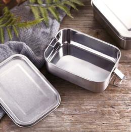 En acier inoxydable réutilisable Déjeuner Container 2 Compartiment Bento Box Eco-Friendly Métal Conservation des aliments Lunchbox Contenant à MMA3139 ? partir de fabricateur