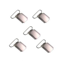 ciuccio d'argento Sconti 5pcs / lot Clip della bretella di DIY Clip del metallo del ciuccio d'argento unisex bambino adulto comune 25mm forte chiusura antiscivolo