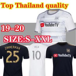 Jerseys tailandeses envío gratis online-Envío gratis top thai hombres mujeres 2019 2020 la Los Ángeles fc LAFC Camisetas de fútbol 19 20 ZIMMERMAN GABER ROSSI CIMAN VELA FÚTBOL CAMISAS