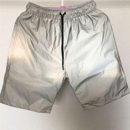 Harajuku HIPHOP Yansıtıcı Erkek Şort Spor Plaj Pantolon Gece Koşu Moda Pantolon Kadın Gevşek Serin Şort nereden