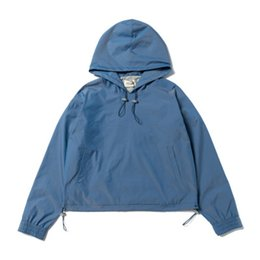 Abrigos de cabras online-dongguan_ss Hip Hop cabra tinta chaquetas con capucha de Streetwear ocasional del algodón de la chaqueta azul Coats