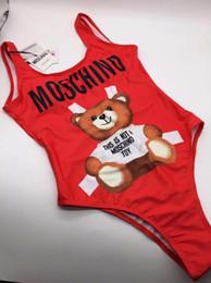 Bikini sveglio di modo online-Swimwear del bikini dell'orso di lusso sveglio di marca di modo per le donne Costume da bagno femminile backless della signora stampato costume da bagno della lettera stampata lettera 516