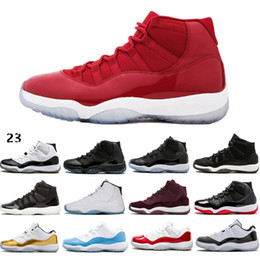 ef99be88597850 Cheap 11 11s Basketball Shoes Sneakers 2019 Mens Women Gym Red Bred  Platinum Tint Heiress Velvet Space Jam Concord XI Shoes free shipping space  boots on ...