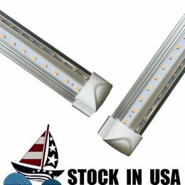 2019 tubos de plástico leve 4 pés 5 pés 6 pés 8 pés LED tubo de luz V Forma LED Tubes Integrado 4 5 6 8 pés refrigerador porta do freezer LED Lighting