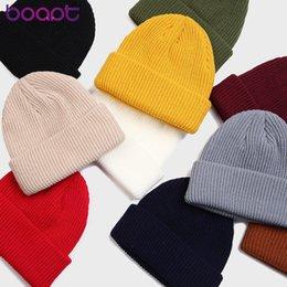 Bonnet Docker Women Men Solid Casual Cashmere Beanie Hiphop Hip hop Winter Cold Short Beanie