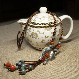 Colar de peixe vintage on-line-Moda Étnica Jóias de Cerâmica Tibetano Prata Duplo Peixe Colar Vintage, Novas Mulheres Camisola Colar Pingentes