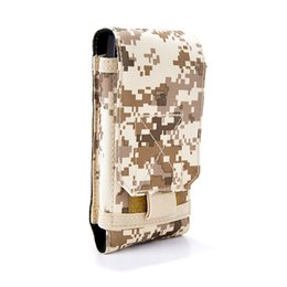 Телефонный кошелек для мужчин онлайн-High Quality Men Women Nylon Waist Phone Case Cover Molle Holster Army Camo Belt Pouch Bag  Wallet Purse