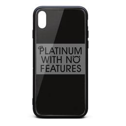 Iphone platinum онлайн-Чехол для iPhone X, Чехол для iPhone XS J. Cole Platinum Без особенностей 9H Закаленное стекло Назад Чехол для телефона с амортизатором TPU