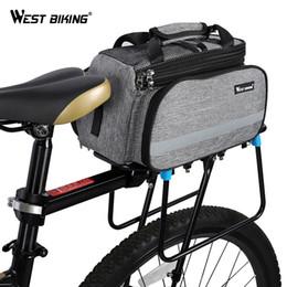 Запад езда на велосипеде велосипед сумка Велоспорт Паньер хранения багажа корзина горная дорога велосипед седло сумка задняя стойка багажник сумки #24683 cheap bike carrier racks от Поставщики стойки для велосипедов
