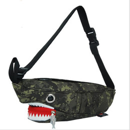 Animale crossing cartoon online-Pacchetto Shark Pacchetto petto Pacchetto casual Borsa a tracolla Unisex Borsa a tracolla per animali Borsa a tracolla per animali Shark Messenger LJJK1646