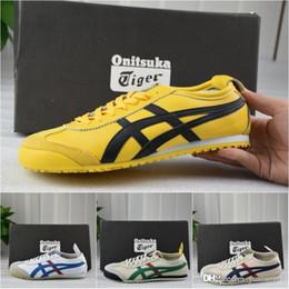 Nuevos zapatos de estilo para hombre online-asics Onitsuka tiger Tiger 2016 Nuevo estilo zapatos planos para hombre y para mujer de cuero cómodo Zapatillas Athletic deporte al aire libre zapatillas de deporte Eur 36-44