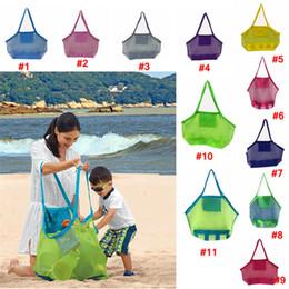 2019 sac de collecte Grande capacité Enfants sacs de plage Sand Away Mesh Tote Bag Enfants Jouets Serviettes Shell Recueillir Sacs De Rangement fold shopping sacs à main promotion sac de collecte
