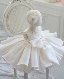 Vestido de bautizo para niña Bautismo de bodas Arco grande en capas Vestido de fiesta recién nacido de tul Princesa infantil Vestido de cumpleaños de 1 año desde fabricantes