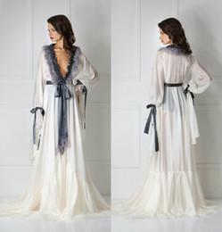 5f19115e3e Silk Bathrobe for Women Cuff Full Length Lingerie Nightgown Pajamas  Sleepwear Women s Luxury Dressing Gowns Housecoat Nightwear Lounge Wear