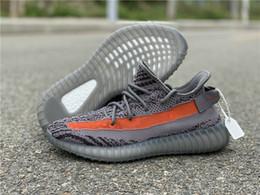 Canada Meilleure Version Gris Orange Designer Homme Casual Chaussures Confortables Filles Kanye West Nouveau Mode formateurs Athlétiques formateurs viennent avec la boîte Offre