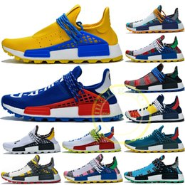 2019 Pharrell Williams nmd Course Hommes Chaussures De Course Jaune Bleu Nerd Pack Solaire Coeur Mind BBC Hommes Femmes Designer Sneakers US5 11.5