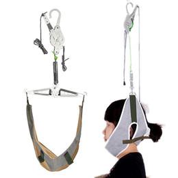 Collo schiena Testa massaggiatore Barella Trazione cervicale Trazione elastica Brace Dispositivo Kit Regolazione Chiropratica Rilassamento del dolore da cuscini sicuri fornitori