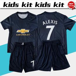China 2019 Kids Kit  6 POGBA Soccer Jerseys Child Youth Sets 18 19 Kids Set 043373b87