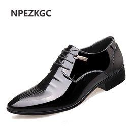 NPEZKGC Classic Business Herren Businessschuhe Mode Elegante Formale Hochzeit Schuhe Männer schnüren Büro Oxford wohnungen