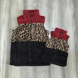 2019 casaco de lã e lã Outono / Inverno roupas bebê meninas casaco quente mãe leopardo vinho lã e me algodão roupas crianças boutique de roupas de algodão casaco de lã e lã barato