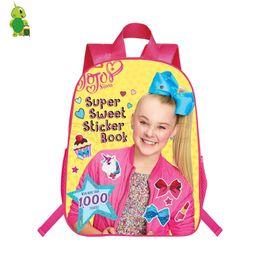 Pop Star Jojo Siwa Sac à dos sacs d'école pour les adolescentes Daily Backpack Enfants Book Bags Casual Voyage épaule ? partir de fabricateur