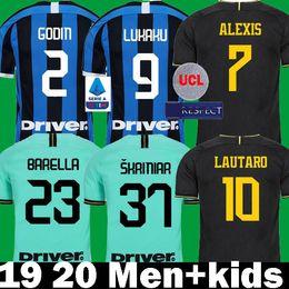 2019 2020 LUKAKU ALEXIS Inter Skriniar Barella Милан трикотажные изделия футбола 19 20 Детские комплекты LAUTARO de Vrij Godin Politano Biraghi Футбольные майки от