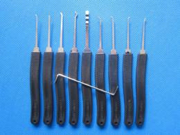 Hotselling 9 piezas recoger herramientas de la cerradura 9pcs Set Lock Picks S035 desde fabricantes
