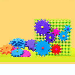 Argentina Partículas grandes para niños ensamblados bloques de rompecabezas Kindergarten educación temprana piezas de copo de nieve de plástico Bloques de engranajes juguetes para niños Suministro