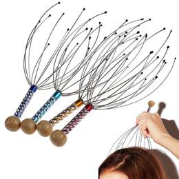 Massager do couro cabeludo do polvo on-line-6 pçs / lote cabeça pescoço couro cabeludo massager massagem polvo equipamentos liberação de estresse relaxar ferramenta de cuidados de saúde # 82196