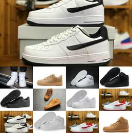 2019 voar fora Novo para ceo homens mulheres low cut one 1 sapatos off all white preto dunk 1 s calçados esportivos designer clássico AF Fly formadores High Knit Sneakers voar fora barato