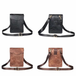 cell phone case belt clip Coupons - 7.2inch Leather For Iphone 11 2019 XR XS MAX X 7 Note 10 Pro 9 8 P30 P20 Lite Cell Phone Hip Purse Case Flip Belt Clip Cover+ Shoulder Strap