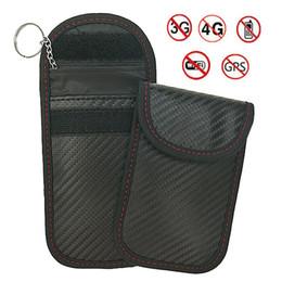 2019 cubierta para el telecontrol del coche NUEVO Car RFID Key Pouch Electromagnetic Shielding Key Key Case Blindaje Bloqueo de la cubierta de múltiples funciones Bolsa de control remoto cubierta para el telecontrol del coche baratos