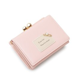 Raccoglitore dentellare di disegno di modo online-Portafoglio corto da donna di lusso caldo di design Simpatico mini fermasoldi multifunzione per sempre borsa rosa di marca di moda per ragazze