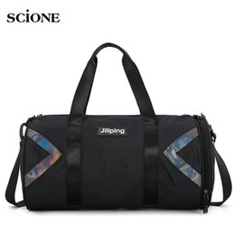 Fitness Gym Bag Nylon Large Training Shoulder Yoga Patchwork Travel Duffel  Bags Men Women Outdoor tas sac de sport bags XA730WA db648e62b1