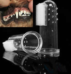 Soft Pet Finger Toothbrush Boxed Silicone Dog Brush To Add Bad Breath Tartar Dental Care Dog Cat Cleaning Supplies