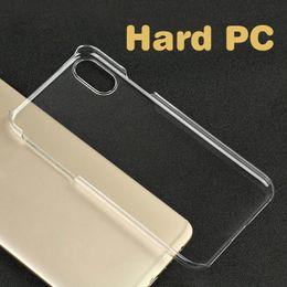 прозрачный пластиковый корпус Скидка Прозрачный кристалл прозрачный пластик жесткий чехол сублимации печати чехол для iPhone XS MAX XR X 7 8 6 Plus 5 SE