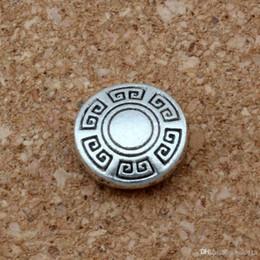 Mic silberne runden online-MIC 200pcs Antik Silber-Legierung runden Spacer Beads 1.5mm Loch fit Perlen Armband DIY Schmuck D48