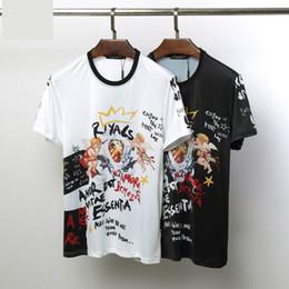 2019 спортивная футболка печать 2019 новый европейский и американский бренд модный дизайнер оригинальные летние повседневные футболки высокого класса роза печати моды спортивный стиль хип-хоп скидка спортивная футболка печать