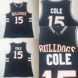 curry de oro blanco Rebajas Bulldogs High School # 15 J. Cole Baloncesto Jersey Negro Película Baloncesto Jersey Rápido Envío gratis Hombres