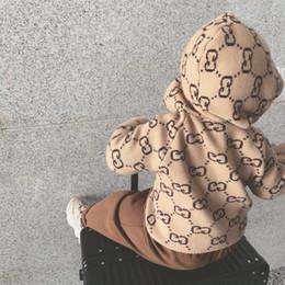 il commercio all'ingrosso del cardigan dell'increspatura delle ragazze Sconti Europee e americane di moda maglione caldo di lana bambini maglione semplice semplice comodo ragazzo Soft Sports maglione con cappuccio