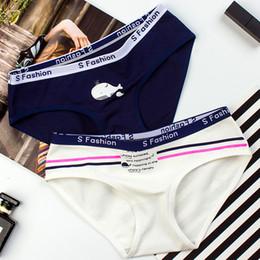 2020 sesso dei cartoni animati SPCITY Nuovo arrivo Moda Cotone Cute Girl Underwear Donne Morbide Slip senza cuciture Cartoon Fish Pink Mutandine Sex Thong Lingerie sesso dei cartoni animati economici