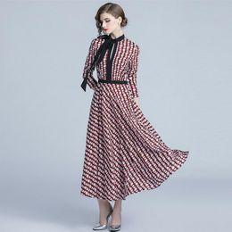 78eac390ddf Print Vintage Tunic Dresses Women Elegant Holiday Dress Long Sleeve Slim  Fit Maxi Prom Floral Dress