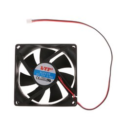 2020 12v ventiladores de refrigeração de computador 12V 2-Pin 80x80x25mm PC Computer System CPU dissipador de calor sem escova Cooling Fan 8025 Fans baratos 12v ventiladores de refrigeração de computador barato