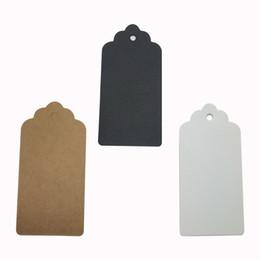 10 * 5cm 500 pezzi fatti a mano FAI DA TE tag regalo di Natale con bordo fiore Nuovo vuoto Kraft tag di carta da forno tag sul pacchetto da