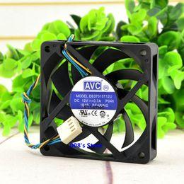 2019 pc вентилятор 12v Новый Радиатор CPU Cooler Fan Для 7015 70 * 70 * 15 мм DE07015T12U DC 12 В 0.7A P046 4-проводной ШИМ Компьютерный ПК Охлаждение 5400 об / мин 46CFM дешево pc вентилятор 12v
