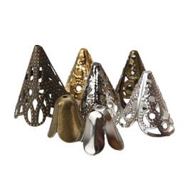 Metal bead caps en Ligne-20pcs / lot Perles En Métal Casquettes Perles Espacées Creuses Bijoux Accessoires Connecteur Diy Bijoux Fabrication de Composants