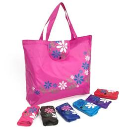 Grande tessuto di stampa floreale online-6Style Shopping Bag pieghevole con stampa floreale Oxford Tessuto Eco Tote Bag Grandi shopper portatili Shopping riutilizzabili