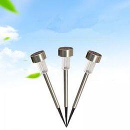 2019 utensili da giardinaggio LED Solar Lights Sun Lawn Light Giardino in acciaio inox Outdoor Sun Light Corridor Lamp Solar Powered Solar Tool AAA1698 utensili da giardinaggio economici