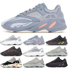 Kanye west sneakers online-Neue 700 V2 statische V1 lila solide grau 700 Wave Runner Designer Laufschuhe Kanye West 700 Männer Frauen Sportschuhe Turnschuhe 36-46